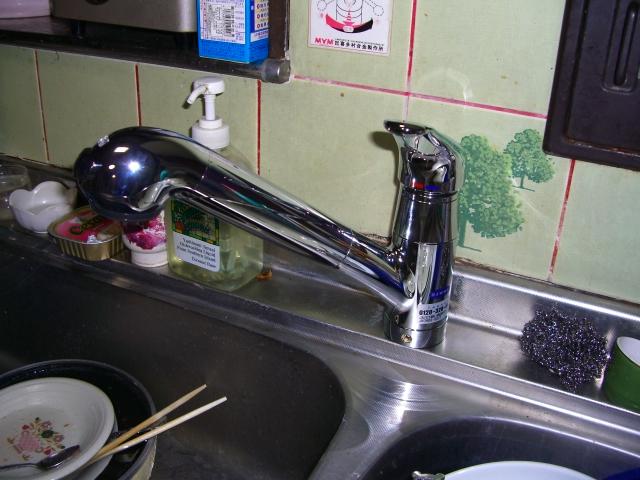 キッチン 水栓 取替え後